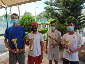 בן שתווי אונגר וספיר כהן זכו ב-TE לגילאי 14 במרכז הטניס ביפו