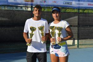 אוראל קמחי וסברינה קלנדרוב זכו באליפות ישראל לנוער בטניס